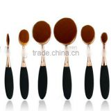 10PCS GOLDEN BLACK TOOTHBRUSH SHAPE MAKEUP BRUSH SET COSMETIC BURSH SET BLUSHER BRUSH FOUNDATION BRUSH SET