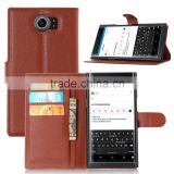 CHEAP LITCHI TEXTURE Soft Wallet Case Stand PU Leather Case For BLACKBERRY PRIV VENICE FLIP LEATHER CASE