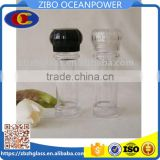 Clear Plastic spice grinder/pepper mill with plastic lid