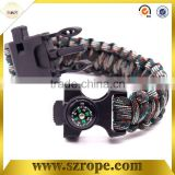 umbrella rope bracelet with seven core camping fishing gear sets multi-function bracelets bracelets outdoor survival