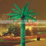 Home garden decorative 750cm Height outdoor artificial green flashing LED solar lighted up Date palm trees with bark EDS06 1410