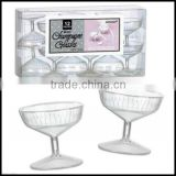 Classic Barware Clear Mini Plastic Wedding Party Champagne cups plastic Glasses,custom plastic party cups china suppliers