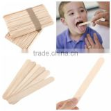 Healthy China Wholesale Baby Wooden Popsicle Stick Tongue Depressor Size