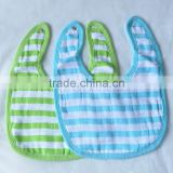 plain colors Organic Cotton baby burp cloth bibs