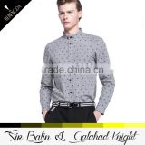 2015 new style brand new slim fit 100% cotton shirt and pant color combinations mens plus point shirt