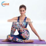 HSZ-YD46005 Wholesale Gym Sweat Suits Latest Design2017 Sexy Yoga Pants Fitness Trendy Printed Sports Wear Apparel Manufacturers