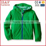 Custom Nylon Waterproof Boys Kids Hooded Rain Jacket