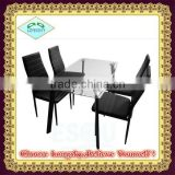 high quality modern Luxury Glass Dining Table and dining chair