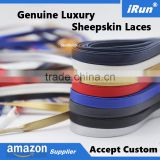 Customized Italian Sheepskin Leather Shoelaces Factory - 2017 French Leather Laces Manufacturer - amzon/eBay Supplier