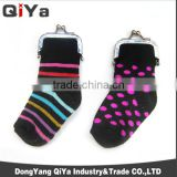 Wholesale Old-Fashion Funny Women Socks Gloves Clasp Coin Purse Metal Purses Frame Wallets
