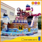 AOQI newest best sale octopus inflatable pirate ship slide for kids