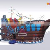 AOQI new style top quality pirate ship jumping castle/inflatable pirateship
