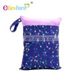 New Pattern Double Zipper Waterproof Cloth Diaper Bag Baby Wet Dry Bag