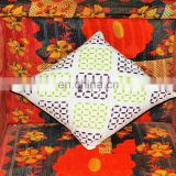 100% cotton cheap popular indian handmade work cushion