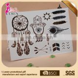 Wholesale eco-friendly tattoo flash Women sexy gold foil flash tattoo
