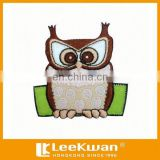 Big Eyes Night Owl Applique Embroidery Patch For Garment Decoration