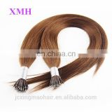 Alibaba china supplier new arrival remy silky straight nano ring human hair extensions