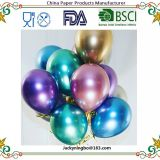 8pcs per pack 3.2g Thick Round Colorful Metallic Balloon 12 inch Flashing Metal Balloon Pearly Metal Chrome Ball Wedding Party Decoration Balloons with Many Available Colors
