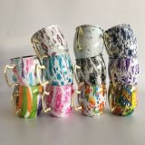 colorful painting stainless steel 304 coffee mug with handle FDA SGS approved