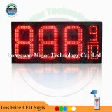 Alibaba Hot Sale RF Wireless Control Outdoor 12inch Red 8.88 9/10 LED Digital Number For Gas Station Price Display Product Description