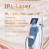 GOMECY beauty spa equipment opt shr e-light hair removal dermatology ipl rf laser system