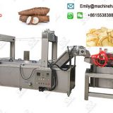 Continuous Yuca Chips Fryer Machine