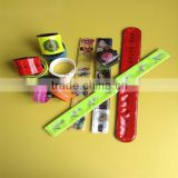 2015 high quality promotional gift PVC reflective snap band / pvc slap band / pvc wrist band