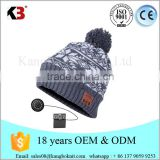 Wireless Headphone Beanie Hat Combined with Removable Headset Mix Color Knitting Hat With Speakers