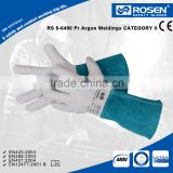 RS SAFETY Cow leather heat resistant gloves in tig Welding glove