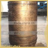 Metal Bronze Brass Flower Pot for Property Decoration