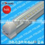 6500k cooler door led v shape tube light 8ft 100lm/w t8 integrated tube light ce rohs best price