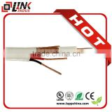 rg59 coaxial cable with 2 power cable CCTV AV cable                                                                         Quality Choice