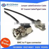 "Hot F Female Jack Connector Switch BNC Male Plug Right Angle Connector RG174 Cable 20CM 8"" Adapter"