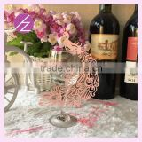 wine glass phoenix cards wedding luxury decorations,party favor paper crafts table place card for wine card china producerJk-82