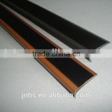 Stainless steel+rubber step tread nosing