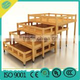 kindergarten bed pre-school furniture OEM kids 4 layer bed