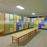 0.6-25mm decorative durable metal lockers for changing room with bench