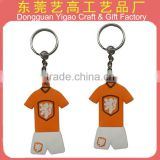 ATBC-PVC description key chain/polo shirt keychains