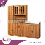 Africa style hot sale home furniture simple mdf kitchen cupboard cheap wood whole kitchen cabinet set