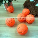 pet product display stand-6.5CM basketball dog chew toy