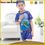 Little children 3pcs set cute cartoon kids swimwear for boys with swim hat                                                                         Quality Choice