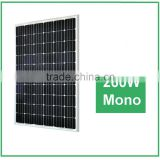 High efficiency 260W mono Solar Panel System for home use, with A grade solar cells                                                                         Quality Choice