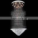 Lucky art home decor hanging modern light crystal