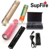gift items low cost portable mini led waterproof flashlight 3 color emergency powerful torch rechargeable li-ion battery