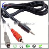 100% test silicone car usb charger + 3.5mm aux audio cable