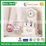 Wholesale factory direct sales Old wood products European style clock pendulum table wooden products and crafts calendar
