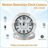 JVE-3311B Table Clock Vedio Recorder dvr Camra Stainless Steel Alarm Clock Camera Motion Detection for home security