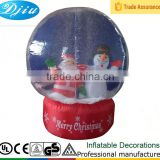 Christmas santa and snowman Inflatable Indoor Tabletop Snowglobe with Lights
