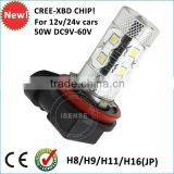 factory producing high power 9V-60v 12v 24v H8 H4 H7 H9 H11 H16 crees osram LED fog light motorcycle fog lights led