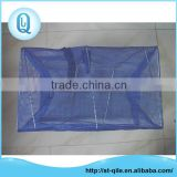 Wholesale aquaculture traps blue pe zipper foldable long shrimp net